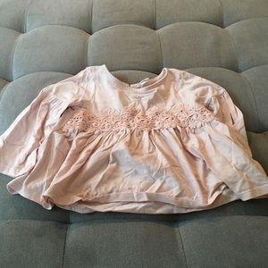 Baby Gap pink flower shirt size 3
